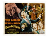 Damsel in Distress, Joan Fontaine, Fred Astaire, George Burns, Gracie Allen, 1937 Lámina