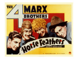 Horse Feathers, Zeppo Marx, Groucho Marx, Harpo Marx, Chico Marx, 1932 Photo