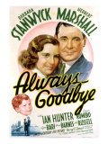 Always Goodbye, Barbara Stanwyck, Herbert Marshall, 1938 Posters