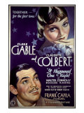 It Happened One Night, Clark Gable, Claudette Colbert, 1934 Print