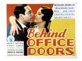 Behind Office Doors, Ricardo Cortez, Mary Astor, 1931 Posters