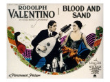 Blood and Sand, Rudolph Valentino, Nita Naldi, 1922 Plakat