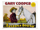 Arizona Bound, Gary Cooper, Flash the Wonder Horse, 1927 Plakat
