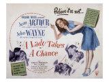Lady Takes a Chance, John Wayne, Jean Arthur, 1943 Posters