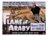 Flame of Araby, Maureen O'Hara, Jeff Chandler, 1951 Print
