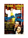 Dance, Girl, Dance, Lucille Ball, Louis Hayward, Maureen O&#39;Hara, 1940 Poster