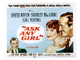 Ask Any Girl, Gig Young, Shirley Maclaine, David Niven, 1959 Plakater