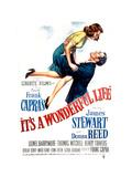 Filmposter It's a Wonderful Life, Donna Reed en James Stewart, 1946 Foto