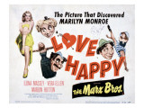 Love Happy, Marilyn Monroe, Marion Hutton, Harpo Marx, Groucho Marx, Chico Marx, 1949 Affiche
