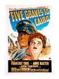 Five Graves to Cairo, Erich Von Stroheim, Anne Baxter, 1943 Photo