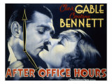 After Office Hours, Clark Gable, Constance Bennett, 1935 Posters