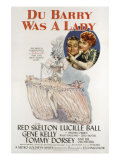 Du Barry Was a Lady, Red Skelton, Lucille Ball, 1943 Poster