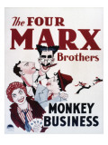 Monkey Business, Groucho Marx, Chico Marx, Harpo Marx, Zeppo Marx, 1931 Print