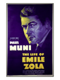 The Life of Emile Zola, Poster
