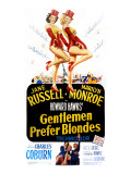 Gentlemen Prefer Blondes, Jane Russell, Marilyn Monroe, 1953 Prints