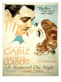 It Happened One Night, Clark Gable, Claudette Colbert, 1934 Prints