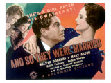And So They Were Married, Jackie Moran, Edith Fellows, Melvyn Douglas, Mary Astor, 1936 Posters
