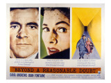 Beyond a Reasonable Doubt, Dana Andrews, Joan Fontaine, 1956 Posters