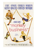 Monkey Business, Cary Grant, Ginger Rogers, Charles Coburn, Marilyn Monroe, 1952 Posters