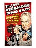 Bulldog Drummond Comes Back, John Howard, Louise Campbell, John Barrymore, 1937 Photo