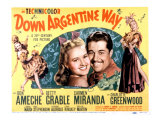 Down Argentine Way, Betty Grable, Don Ameche, Carmen Miranda, 1940 Photo