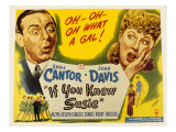 If You Knew Susie, Eddie Cantor, Joan Davis, 1948 Photo