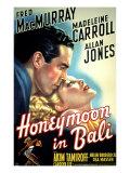 Honeymoon in Bali, Fred MacMurray, Madeleine Carroll, 1939 Photo