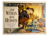 All That Heaven Allows, Rock Hudson Jane Wyman, 1955 Posters