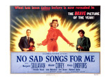 No Sad Songs for Me, Wendell Corey, Natalie Wood, Margaret Sullavan, Viveca Lindfors, 1950 Posters