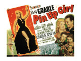 Pin-Up Girl, Betty Grable, John Harvey, Joe E. Brown, Martha Raye, Charlie Spivak, 1944 Posters