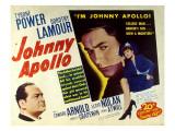 Johnny Apollo, Edward Arnold, Tyrone Power, Dorothy Lamour, 1940 Photo