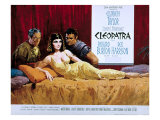 Cleopatra, Rex Harrison, Elizabeth Taylor, Richard Burton, 1963 Photo