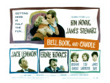 Bell Book and Candle, Kim Novak, James Stewart, Jack Lemmon, Ernie Kovacs, Hermione Gingold, 1958 Print