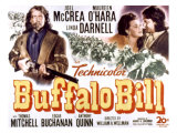 Buffalo Bill, Joel Mccrea, Maureen O&#39;Hara, 1944 Posters