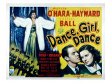 Dance, Girl, Dance, Lucille Ball, Louis Hayward, Maureen O&#39;Hara, 1940 Prints