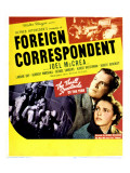 Foreign Correspondent, Joel Mccrea, George Sanders, Laraine Day, Herbert Marshall, 1940 Photo