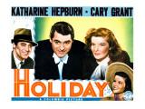 Holiday, Cary Grant, Katharine Hepburn 1938 Poster
