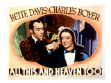 All This and Heaven Too, Charles Boyer, Bette Davis, 1940 Posters