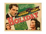 Holiday, Cary Grant, Katharine Hepburn, 1938 Print