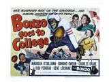 Bonzo Goes to College, Edmund Gwenn, Bonzo, Charles Drake, Maureen O'Sullivan, Gigi Perreau, 1952 Photo