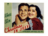 Christmas in July, Dick Powell, Ellen Drew, 1940 Psters
