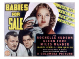 Babies for Sale, Glenn Ford, 1940 Posters