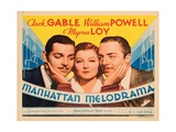 Manhattan Melodrama, Clark Gable, Myrna Loy, William Powell, 1934 Photo