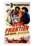 The New Frontier, John Wayne, Raymond Hatton, Ray Corrigan, Movie Poster Art, 1935 Prints