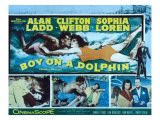 Boy on a Dolphin, Sophia Loren, Alan Ladd, Piero Giagnoni, Clifton Webb, 1957 Photo