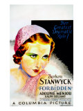 Forbidden, Barbara Stanwyck, 1932 Photo