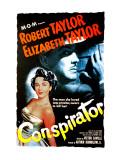 Conspirator, Elizabeth Taylor, Robert Taylor, 1949 Poster