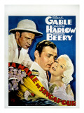 China Seas, Wallace Beery, Clark Gable, Jean Harlow, 1935 Fotografía
