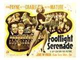 Footlight Serenade, John Payne, Betty Grable, Victor Mature, 1942 Print