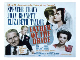 Father of the Bride, Spencer Tracy, Elizabeth Taylor, Joan Bennett, 1950 Prints